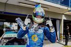 Luca Milani em sua primeira vitória na Sprint Race em 2014 (Luciano Santos/SiGCom)