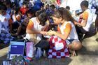 Os alunos receberam kits do Projeto Ideia Fixa (Luciano Santos/SigCom)