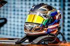 O belíssimo capacete do piloto Eduardo Berlanda (Rodrigo Guimarães/Sprint Race)