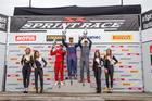 Premiação da categoria GP na primeira corrida (Lisandro Garcia/Sigcom)