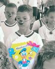 Os alunos da Escola Municipal Francisco Guedelha receberam kits da ação (Pedro Santos/PhotoAction)