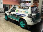Carro Mitsubishi Pajero TR4 da dupla ficou exposto durante três dias (Divulgação)