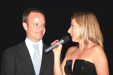 Rubinho Barrichello com Isabel Reis