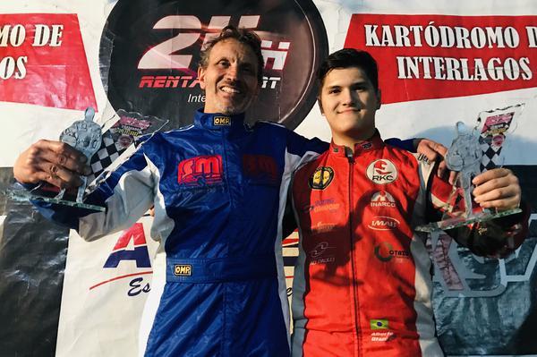 Valdo Gregório (E) e Alberto Otazú lideram a Fórmula Master