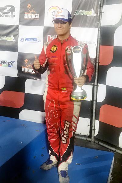 Alberto Otazú foi sexto no Brasileiro de Kart Indoor