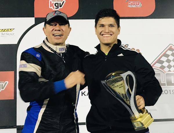 Hélio Bianchi e Alberto Otazú comemorando o vice do terceiro turno