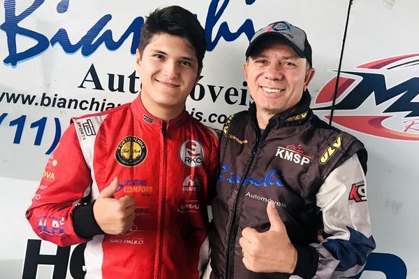 Alberto Otazú (E) e Hélio Bianchi (D) foram vice-campeões da F-4 Akasp