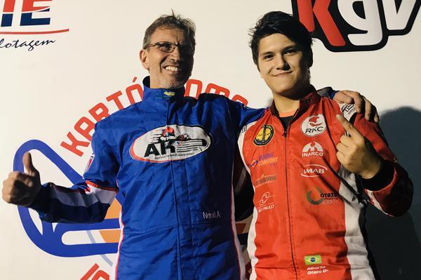 Valdo Gregório (E) e Alberto Otazú (D), campeões antecipados da F-Master