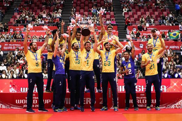 Seleção masculina, campeã da Copa do Mundo 2019 (Divulgação/FIVB)