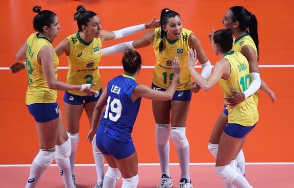 Seleção feminina do Brasil (Divulgação/CBV)