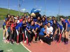 Carteirinho com atletas do Jundiaí Handebol Clube (Divulgação)
