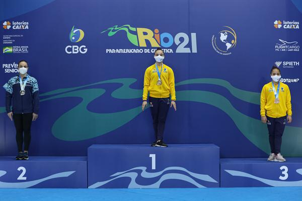 Ana Luiza Pires Lima, ouro no solo e Christal Bezerra, bronze