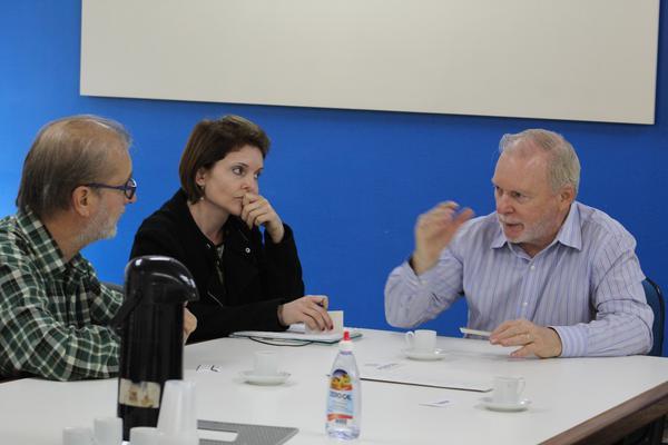 Gerente executivo da AGAS, Francisco Schmidt recebeu representantes da ASBRAV