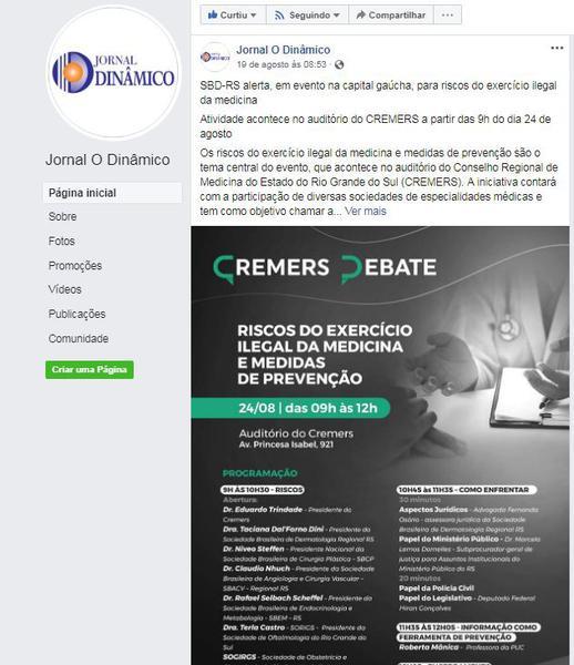 19.08.19 - Jornal Dinâmico - Estância Velha - SBD-RS