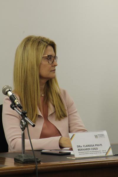Vice-presidente da SBD-RS, Clarissa Prati
