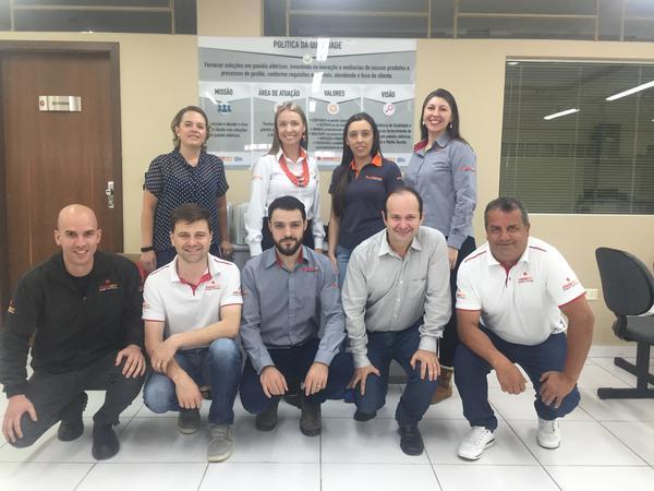 Equipe de gestores da Engerey na certificação da ISO