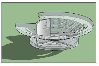 Vista isométrica Plenário Ulysses Guimarães