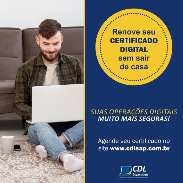 Certificação Digital pela CDL Sapiranga