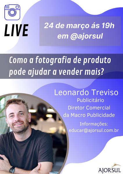 """Live  """"Como a fotografia de produto pode ajudar a vender mais?"""""""