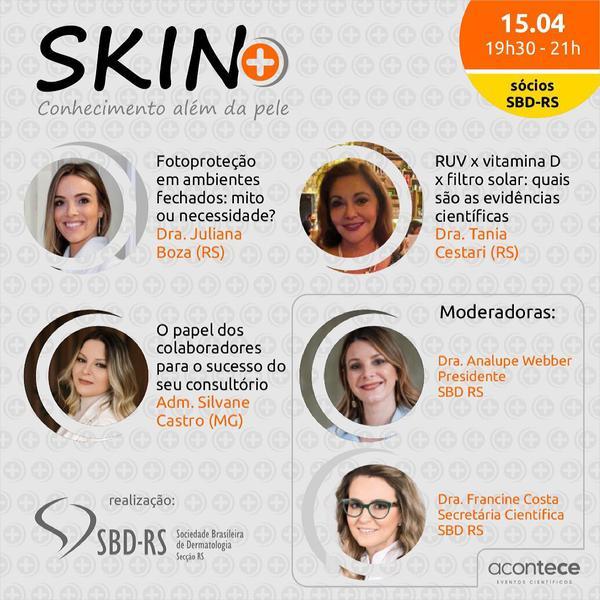 Segunda edição do Webinar SKIN+