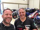 Schultz e Piano na sede da Território Motorsport (FJS Fotos)