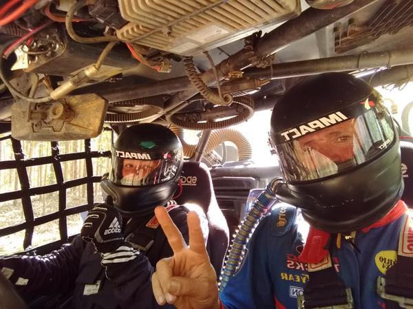 Bruno/Furika com o UTV Can-Am Maverick X3, preparado pela equipe