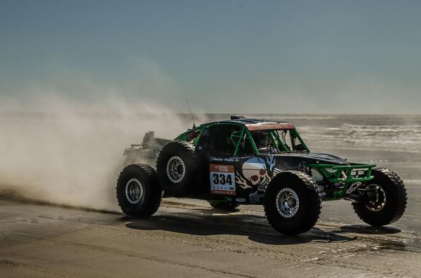 Bianchini pilotou o buggy, pela primeira vez, no Rally Rota Sul, em dezembro/19 (Ney Evangelista/DFotos)