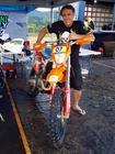 O paranaense Elias Folly venceu a prova deste sábado nas motos (Divulgação)