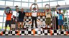 Pódio dos cinco mais rápidos dos UTVs. Piano vice-campeão (Cadu Rolim/DFotos)