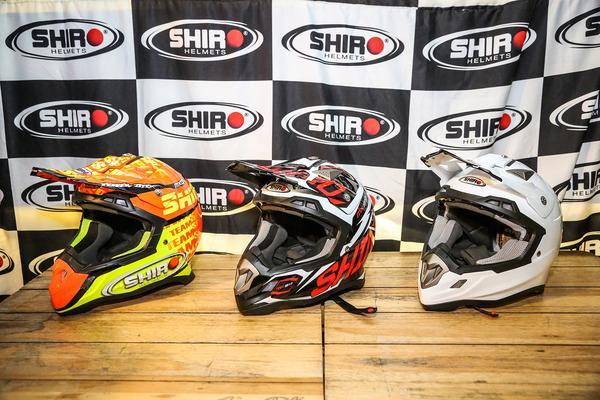 Capacetes SHIRO que serão usados na maior prova off-road do país (Divulgação)