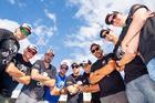 Time de competidores da Bianchini Rally reunidos para a final (Ricardo Leizer/Fotop)