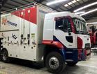 Caminhão da equipe, agora com cabine estendida (Divulgação)