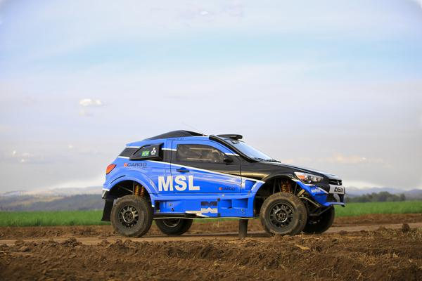 Com o Mitsubishi ASX da FD Rally, Gunter Hinkelmann e Deco Muniz disputam prova (Luciano Santos/SiGCom)