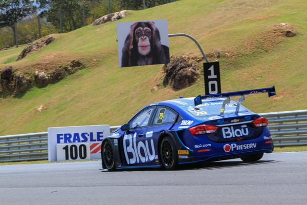 Freada para a primeira curva do circuito de 3.438 metros (Vanderley Soares/P1 Media Relations)
