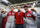 Loïc Duval, Oliver Jarvis e Lucas di Grassi, pole-position das 6 Horas de Fuji (Audi Sport)