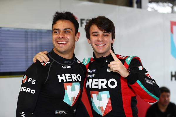 Os irmãos Vitor e Felipe Baptista, da equipe Hero Motorsport