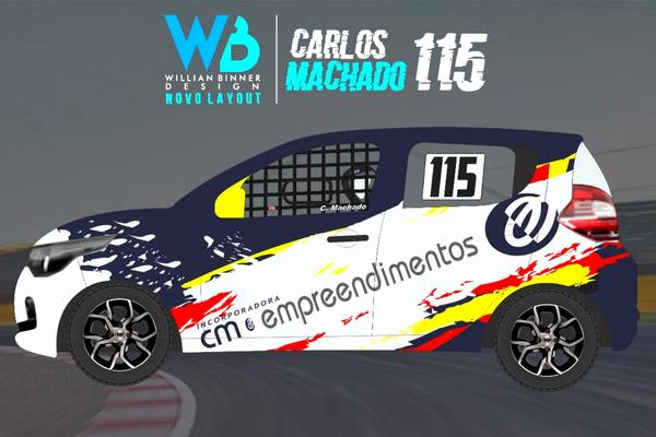 Layout do Fiat Mobi de Carlos Machado para a 33ª Cascavel de Ouro