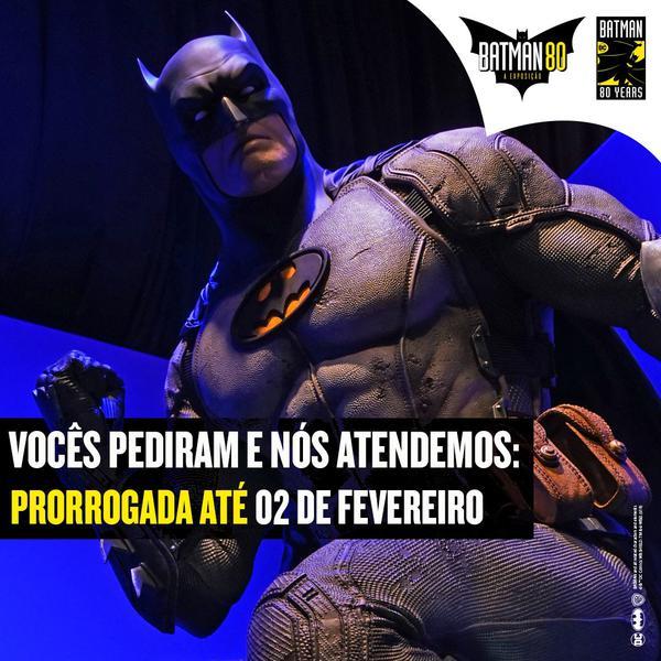 """""""Batman 80 - A exposição"""" anuncia prorrogação de permanência!"""