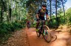 Ciclistas formam pelotão (Ney Evangelista / Brasil Ride)