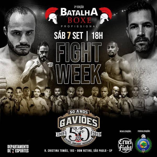 Serão 16 combates na quadra dos Gaviões da Fiel