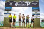 Pódio masculino da segunda etapa (Rosita Belinky / Brasil Ride)