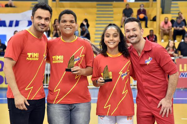 Falcão e Diego Hypólito com os Capitães sem Braçadeira Felipe e Lorenza