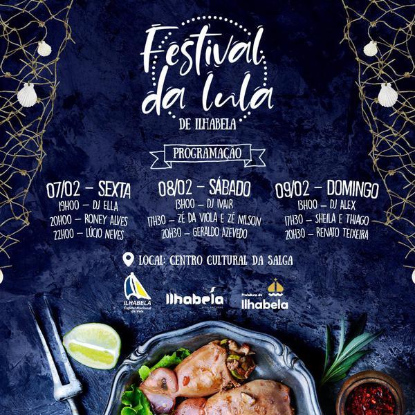 Programação do Festival da Lula