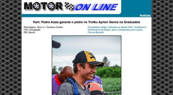 Pódio de Aizza no Troféu Ayrton Senna, notícia na Motoronline