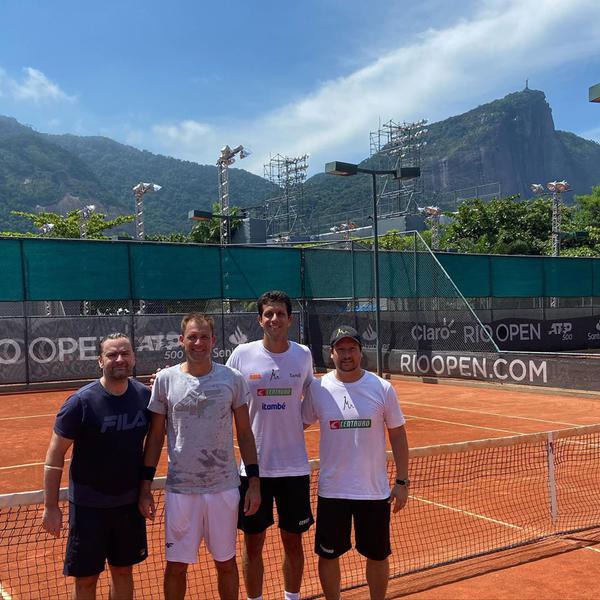 Stoces, Kubot, Marcelo e Daniel no Rio