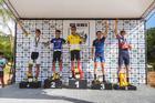 Pódio super elite masculina (Wladimir Togumi / Brasil Ride)