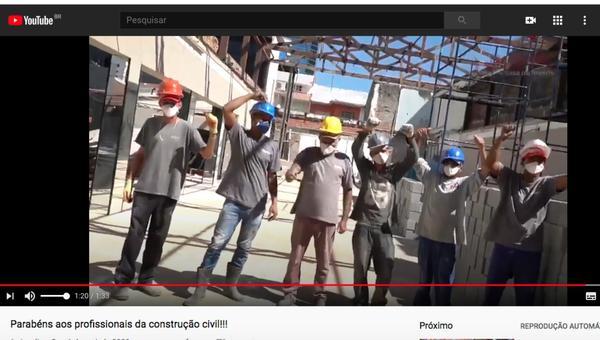 Vídeo com homenagem no Dia do Trabalho