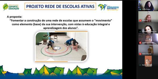 O Projeto Rede Escolas Ativas está sendo apresentado à distância