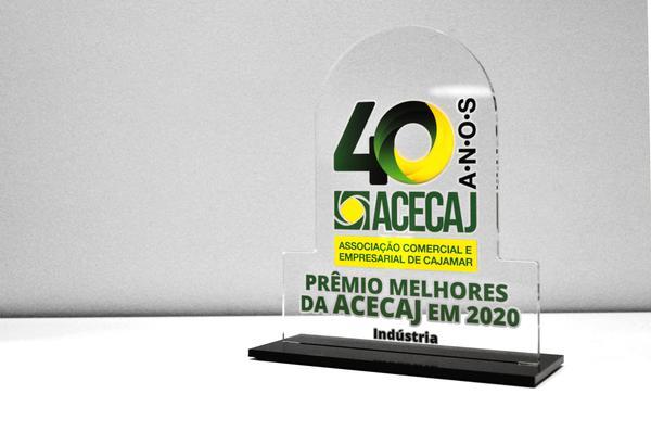 Troféu de melhor indústria no prêmio da ACECAJ