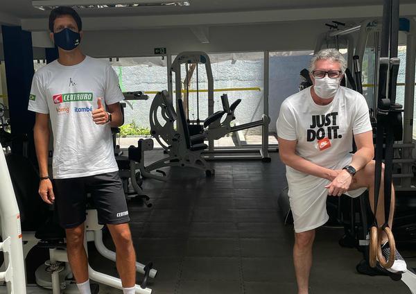 Treinando em Belo Horizonte com o preparador físico Chris Zogno